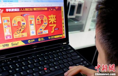 资料图:用户正在网购。<a target='_blank' href='http://www.chinanews.com/'>中新社</a>发 刘可耕 摄。