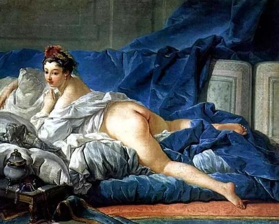 法国裸体大全_鲁达向孩子们展示的裸体画之一:法国画家布雪作品《宫女》 图自网络